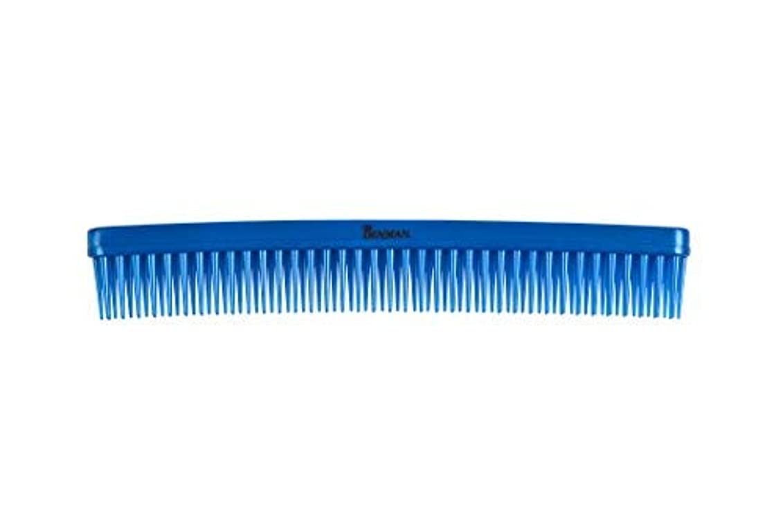 Denman D12 3 row comb - metallic blue [並行輸入品]