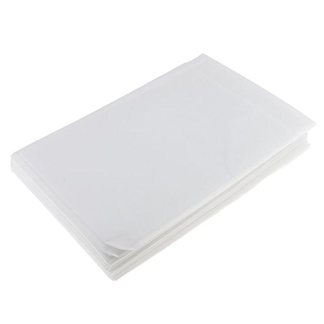 集団的熟読する昆虫SONONIA 使い捨て 美容室/マッサージ/サロン/ホテル ベッドパッド 無織PP 衛生シート 10枚 全3色選べ - 白