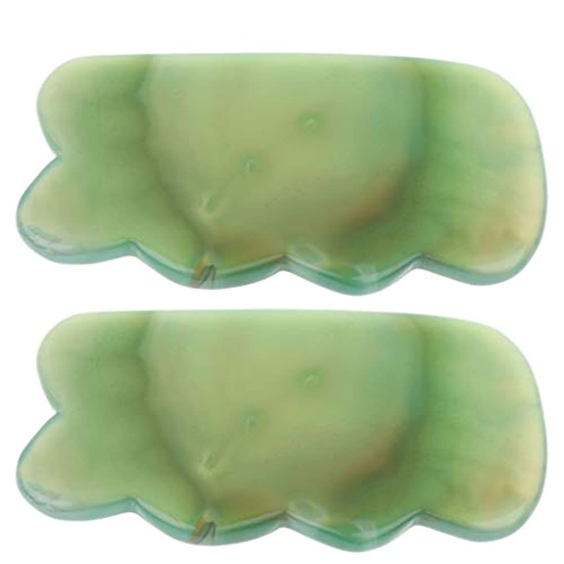 P Prettyia かっさプレート カッサ板 天然石 瑪瑙玉 カッサボード カッサマッサージ道具 スパ 2個入