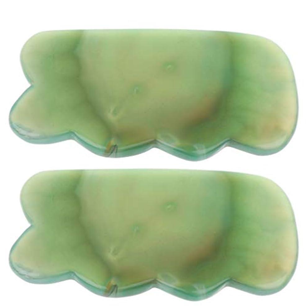 ゆるくシーン説明するかっさプレート カッサ板 天然石 瑪瑙玉 カッサボード カッサマッサージ道具 スパ 2個入