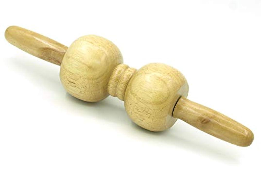 基礎理論コテージ味付け木製 マッサージ ローラー 棒 2玉