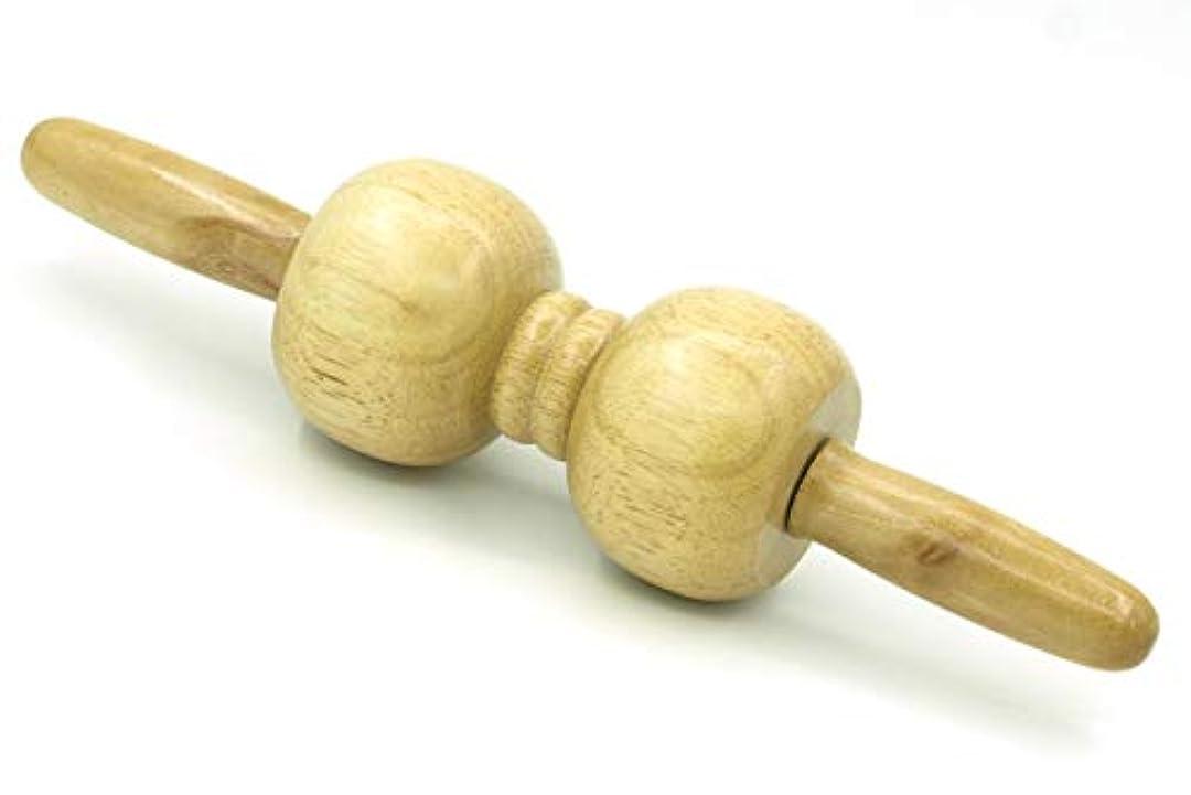 器具静かに繊毛木製 マッサージ ローラー 棒 2玉