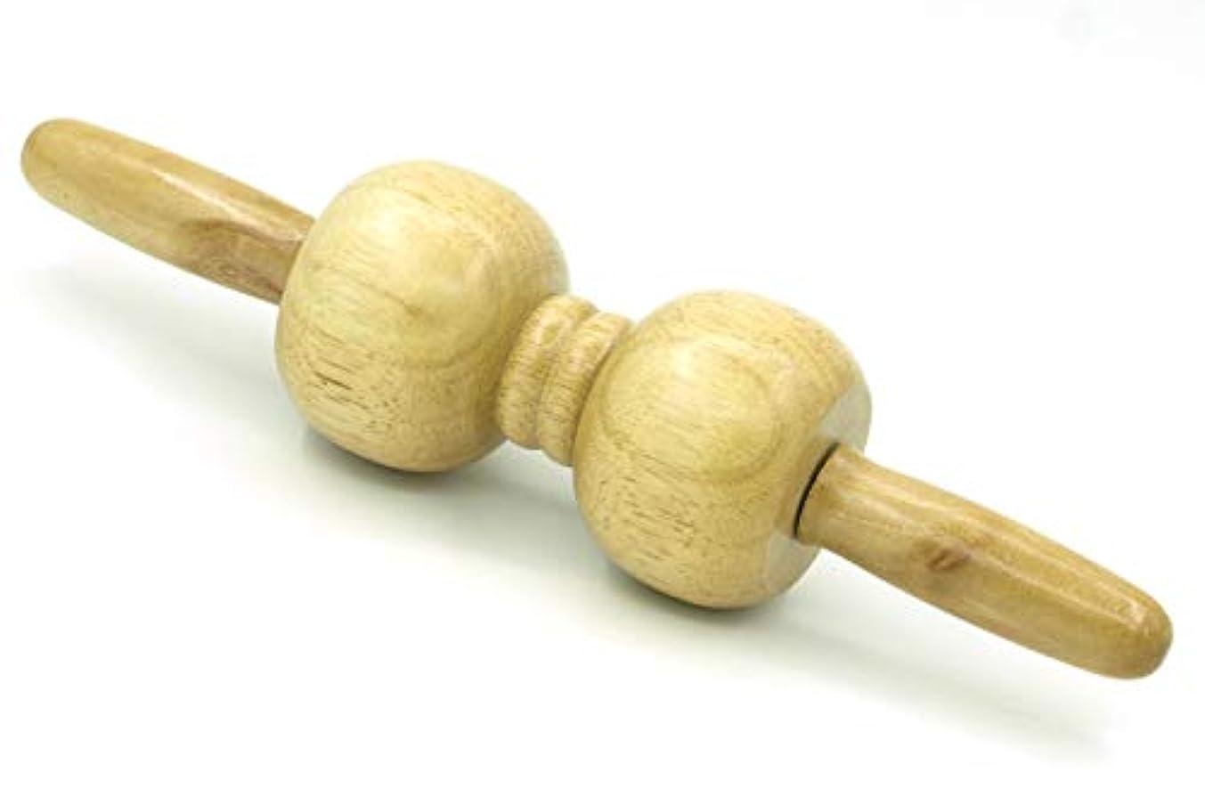 形容詞現実的価値木製 マッサージ ローラー 棒 2玉