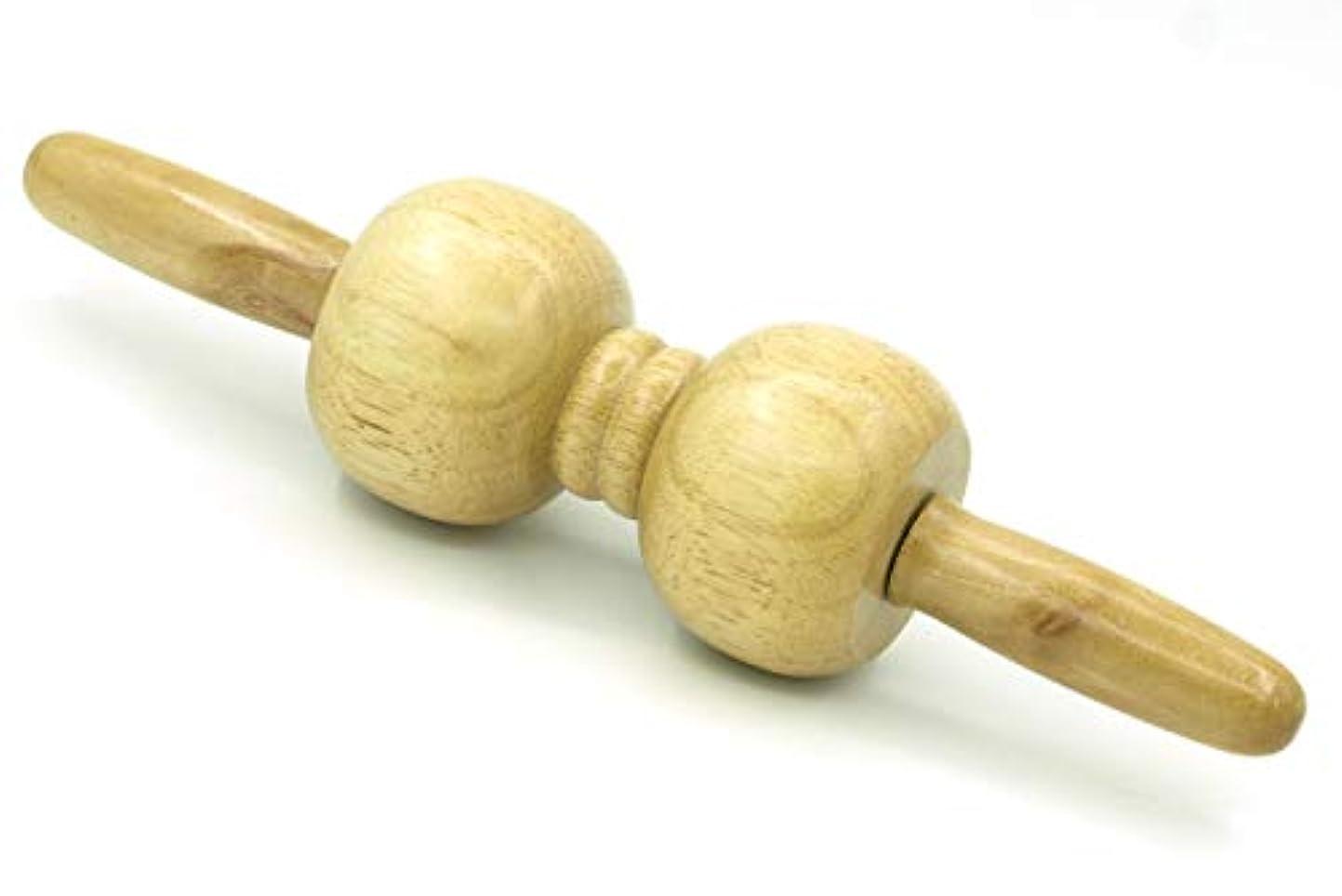 に同意する小道わずかに木製 マッサージ ローラー 棒 2玉