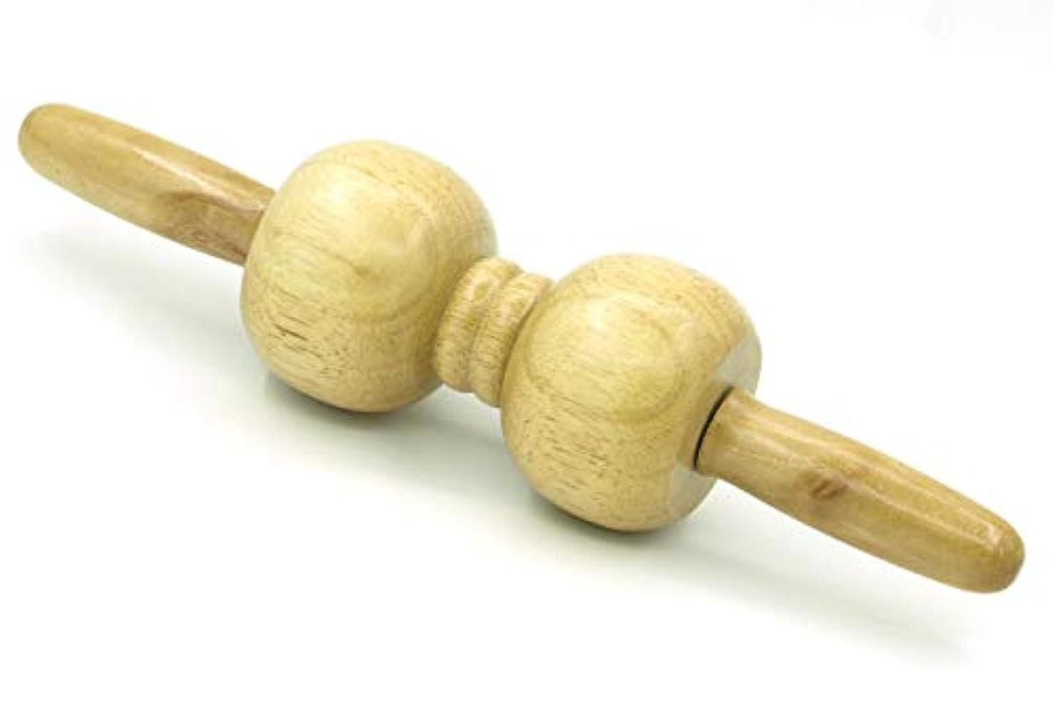 エンジニアつづりパトワ木製 マッサージ ローラー 棒 2玉