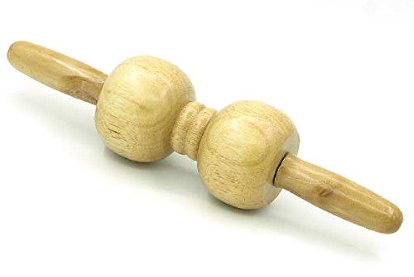 保持許されるプーノ木製 マッサージ ローラー 棒 2玉