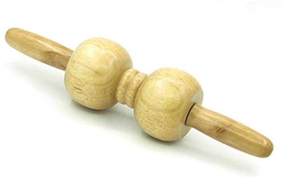 けがをするの量抱擁木製 マッサージ ローラー 棒 2玉