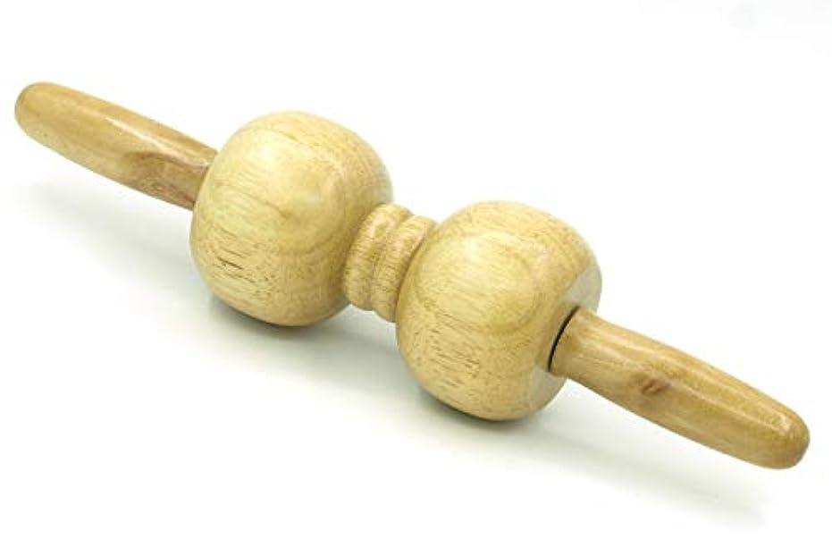 印をつける想像するハードウェア木製 マッサージ ローラー 棒 2玉