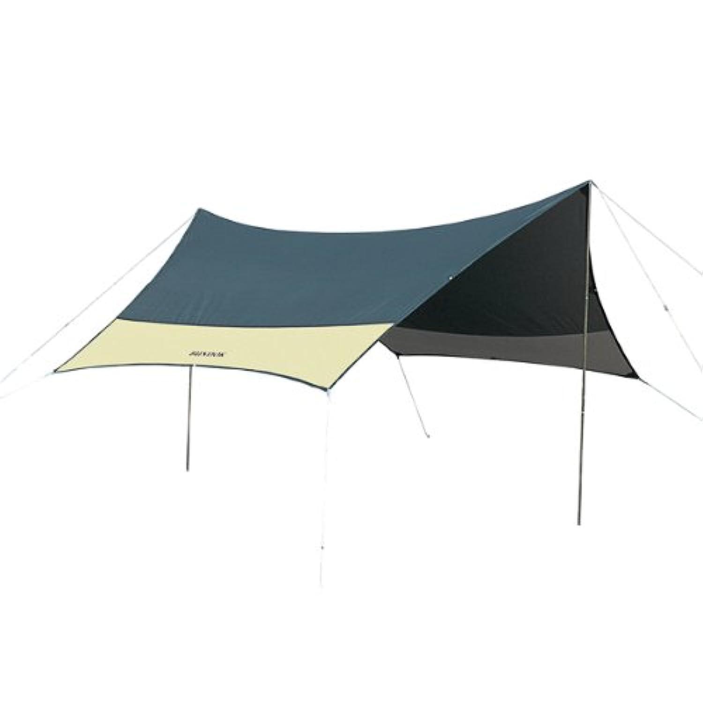 BUNDOK(バンドック) ミニ ヘキサゴン タープ UV BDK-25 【3~4人用】 グリーン/デニム 収納ケース付 テント アウトドア
