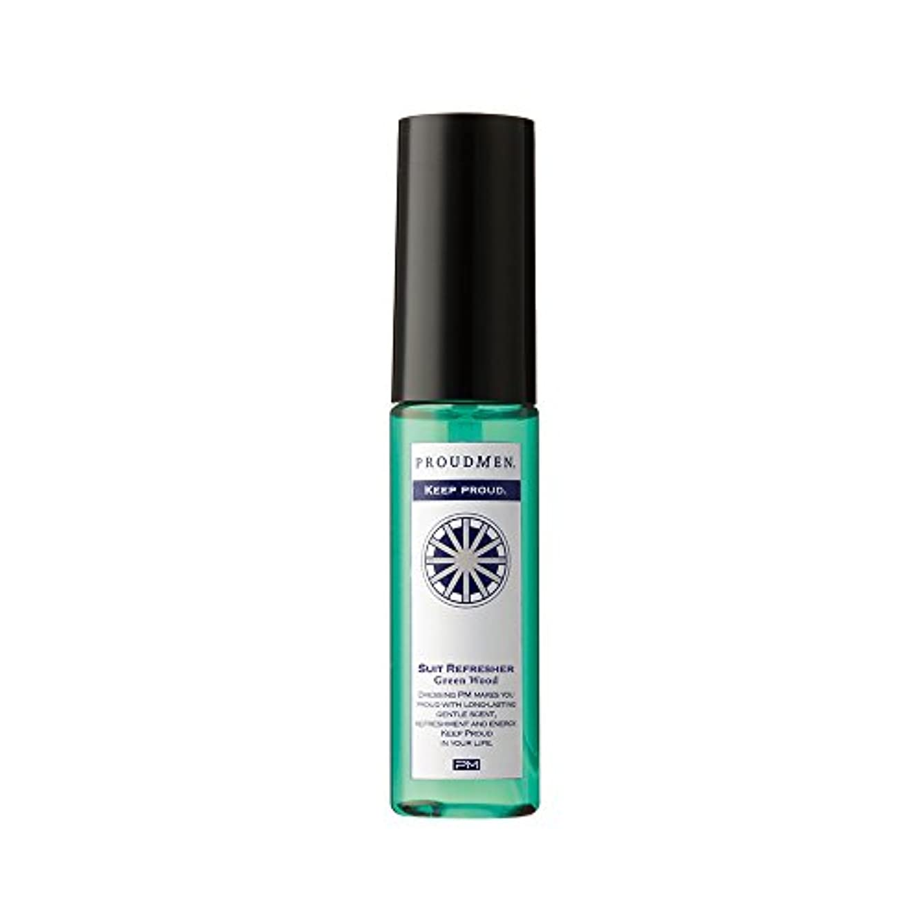 盲目敏感な浸したプラウドメン スーツリフレッシャーGW ミニ 携帯用 15ml (グリーンウッドの香り) ファブリックスプレー