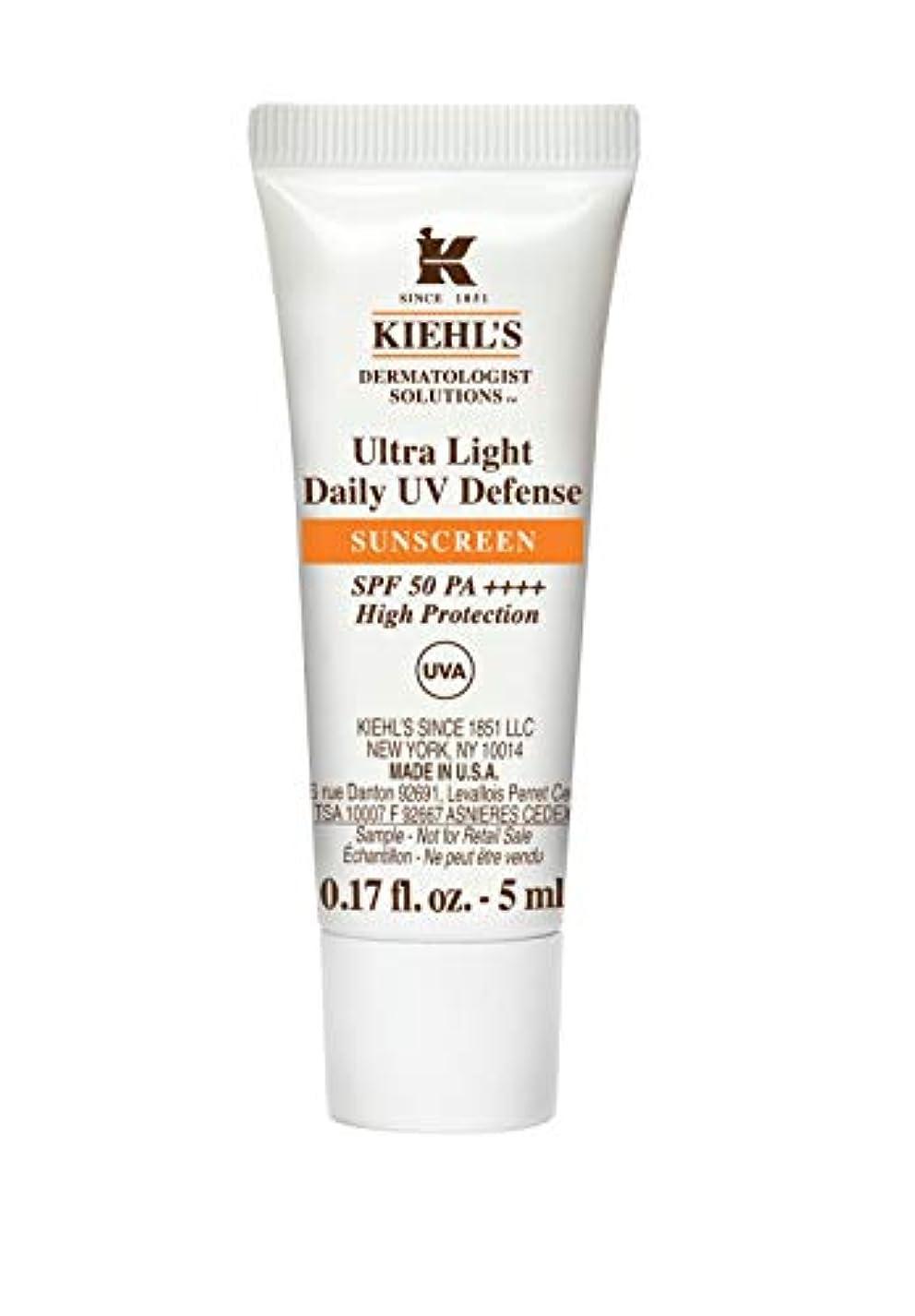 解凍する、雪解け、霜解け巨大パントリーKiehl's(キールズ) キールズ UVディフェンス 5mL / KIEHL'S Ultra Light Daily UV Defense Sunscreen SPF 50 PA++++