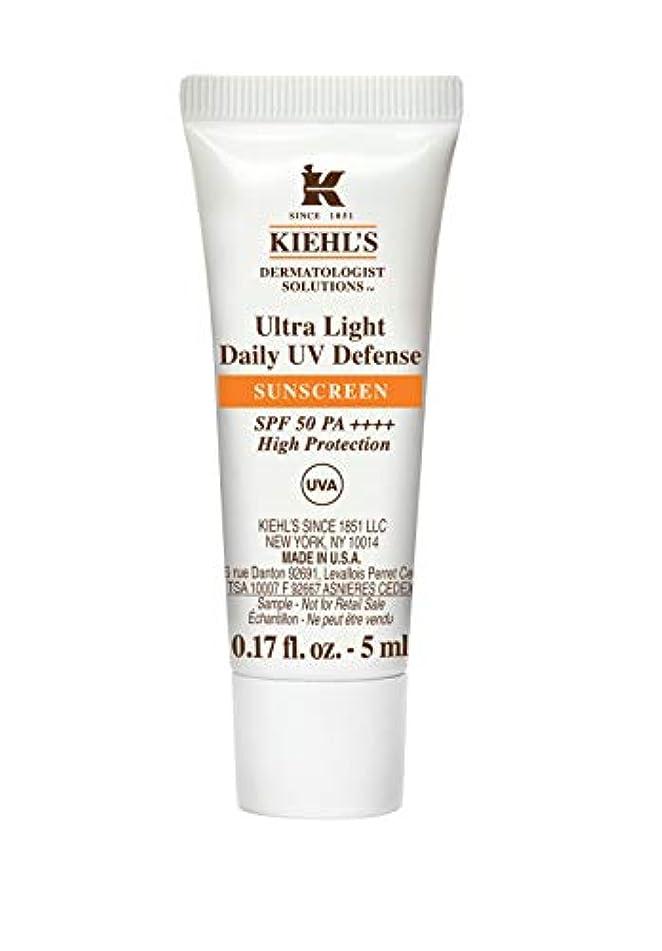 ジャムバイオリンパリティKiehl's(キールズ) キールズ UVディフェンス 5mL / KIEHL'S Ultra Light Daily UV Defense Sunscreen SPF 50 PA++++