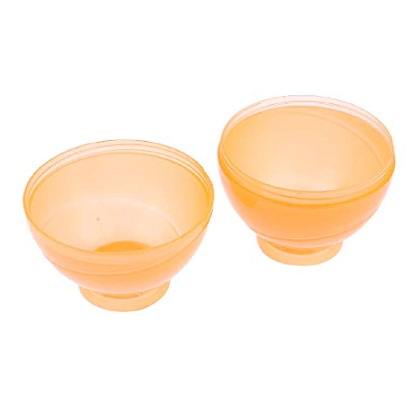池たくさんの偽造カラーボウル ヘアカラー ミキシングボトル プロ 美容師 キャンディー形状 便利 漏れ防止 全3色 - オレンジ