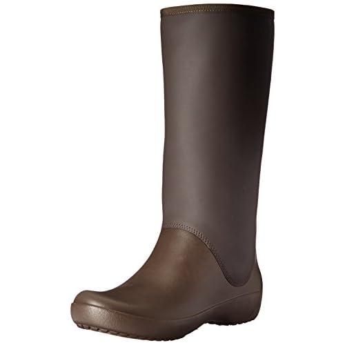 [クロックス] レインフロー トール ブーツ ウィメン  203416 Espresso W8(24.0cm)