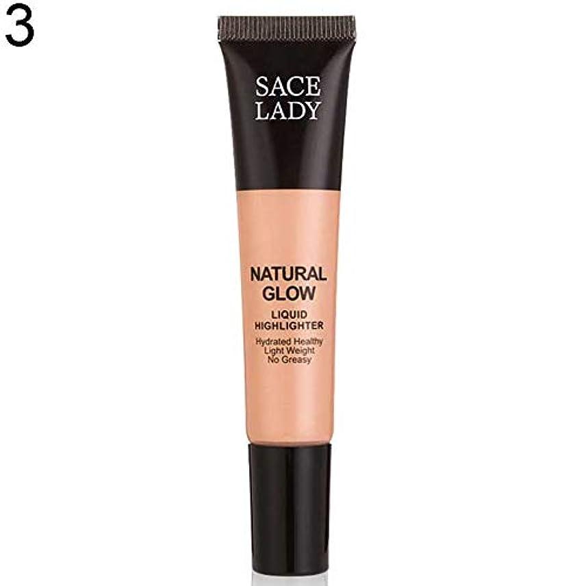 代表するトイレ休日SACE LADY液体蛍光ペン水和非脂っこい化粧顔ブロンザー - 3#