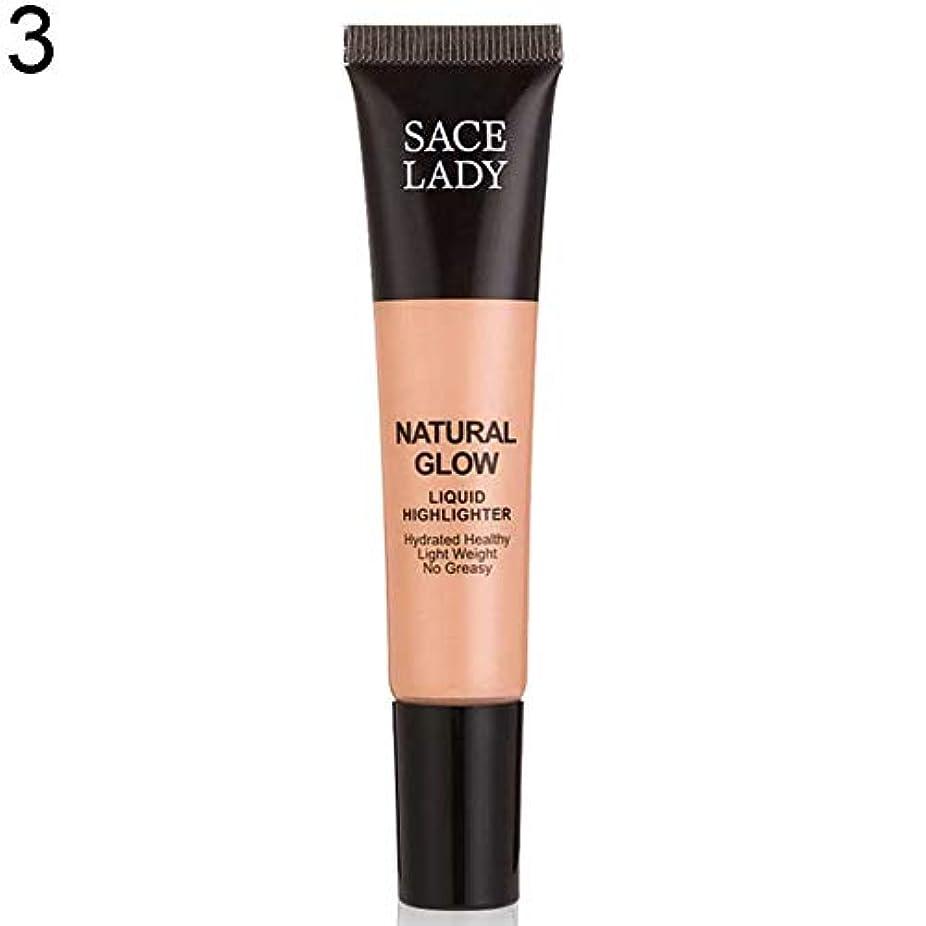 賞賛米ドル一生SACE LADY液体蛍光ペン水和非脂っこい化粧顔ブロンザー - 3#