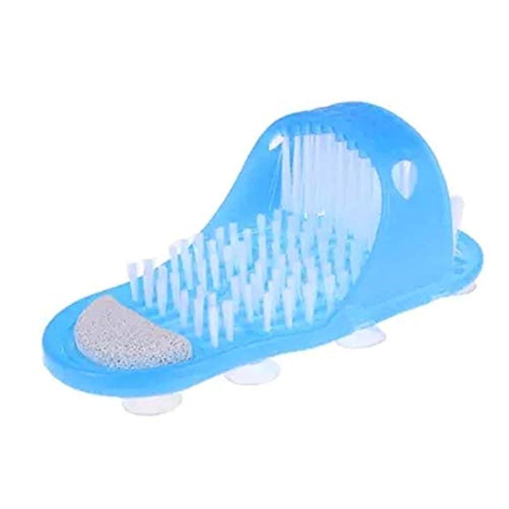 式満足近所のシャワースパ角質除去足マッサージャースリッパ、入浴靴ブラシ軽石足除去デッドスキンフットケアツール、1ピース