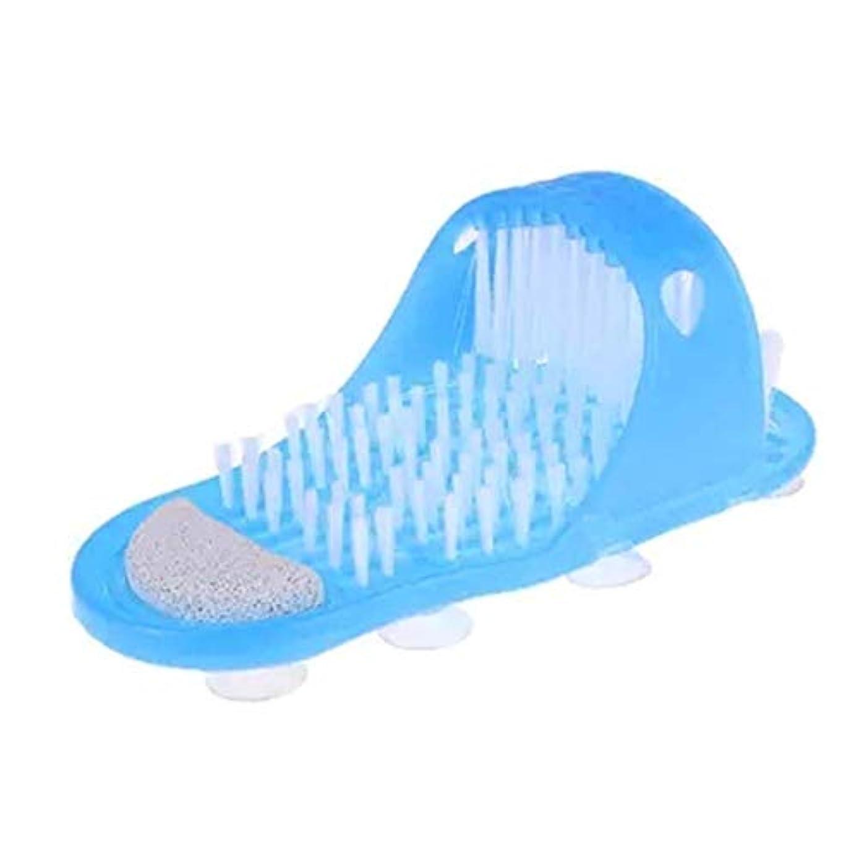 スキーム自分の力ですべてをするさわやかシャワースパ角質除去足マッサージャースリッパ、入浴靴ブラシ軽石足除去デッドスキンフットケアツール、1ピース
