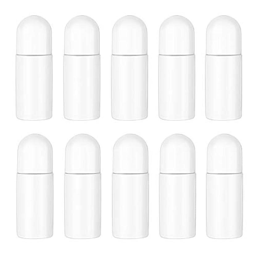 辛い換気北米Healifty エッセンシャルオイル香水化粧品50 ml(白)の10ピースプラスチックローラーボトル空の詰め替え可能なローラーボールボトル