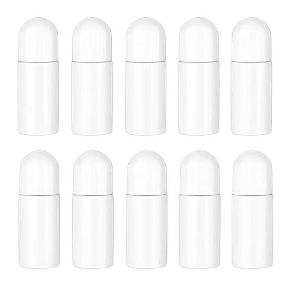母提供パキスタンHealifty エッセンシャルオイル香水化粧品50 ml(白)の10ピースプラスチックローラーボトル空の詰め替え可能なローラーボールボトル