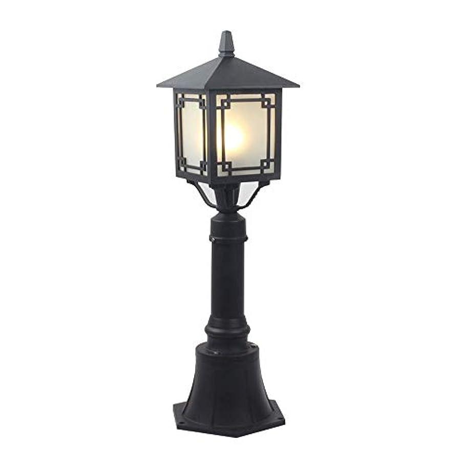 来てアナロジーささいなPinjeer E27クラシックスクエア屋外芝生ガラスコラムランプヨーロッパヴィンテージ伝統的なip55防水金属アルミポストライトガーデン中庭街路照明柱ライト