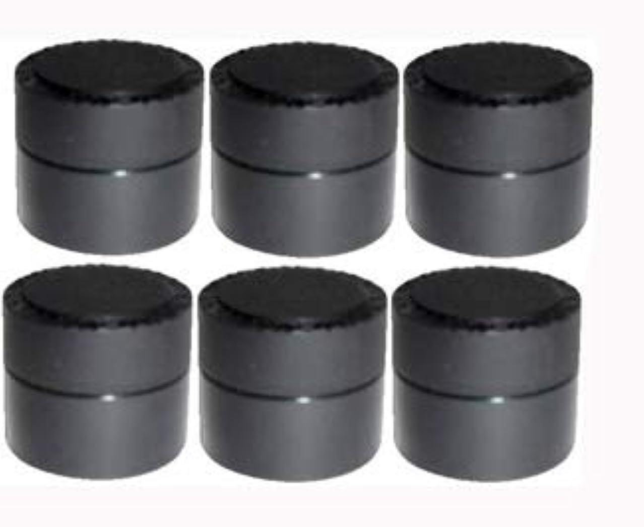ハイジャック運命正午メルティージェル MELTY GEL 空容器 黒 (容量5g) 6個