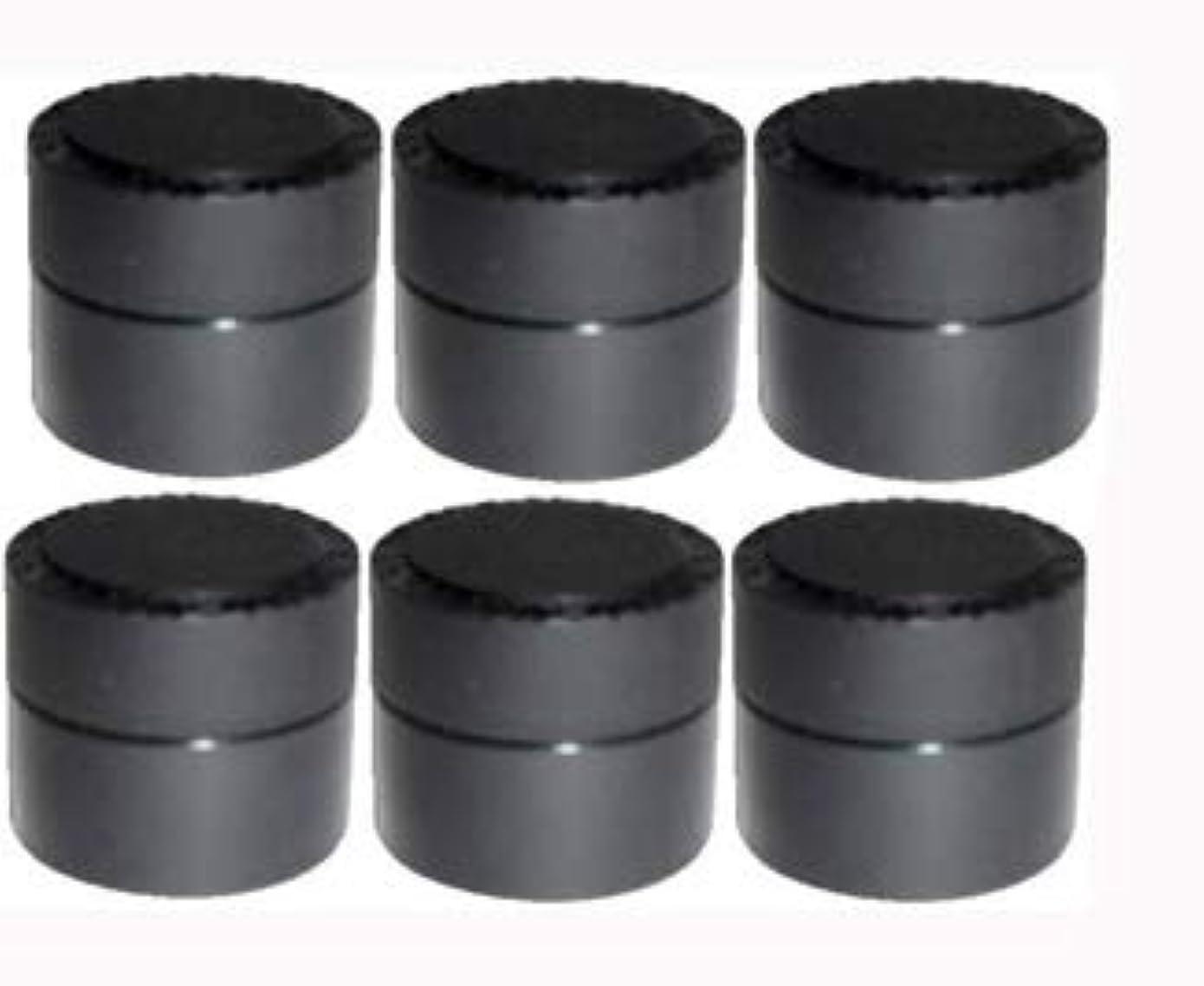 接続された調和倉庫メルティージェル MELTY GEL 空容器 黒 (容量5g) 6個