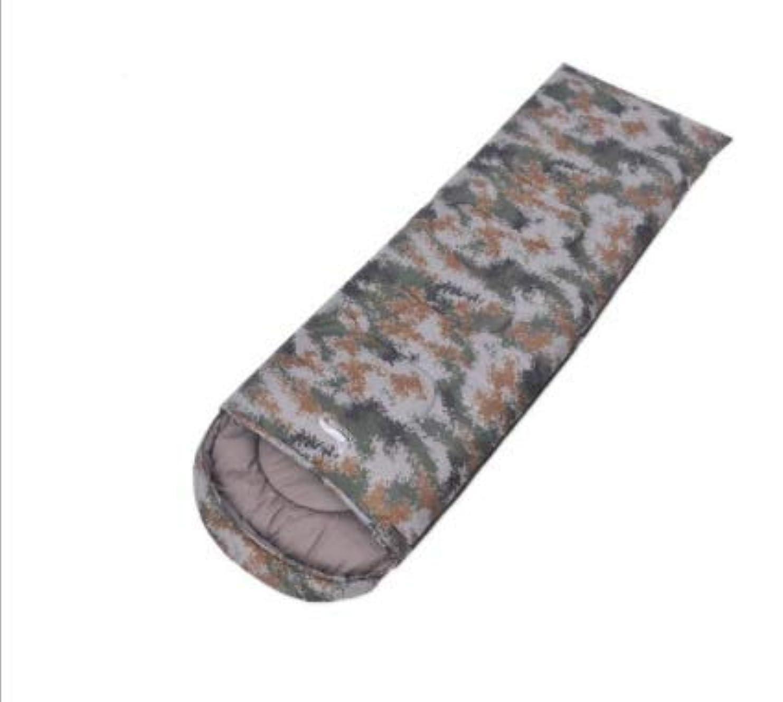 数学者反映する小川春と秋の屋外の超軽量迷彩寝袋大人の封筒キャンプ寝袋中空綿キャンプ寝袋