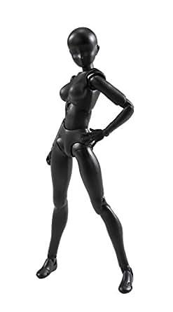S.H.フィギュアーツ ボディちゃん(Solid black Color Ver.) 約135mm ABS&PVC製 可動フィギュア