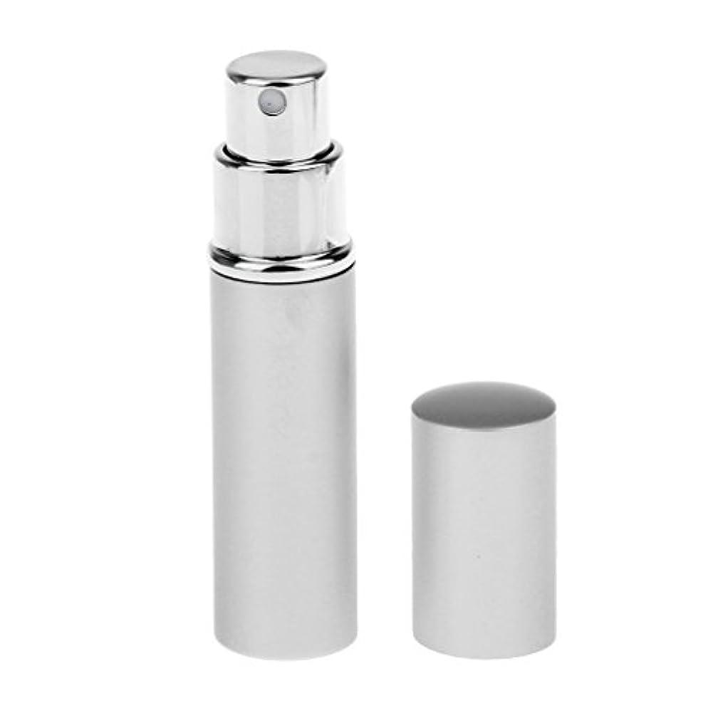 接続比較的陰謀Hellery 香水瓶 携帯 ポンプ式香水瓶 スプレーボトル アトマイザー 香水 詰替え容器 全4色選べる - 銀色