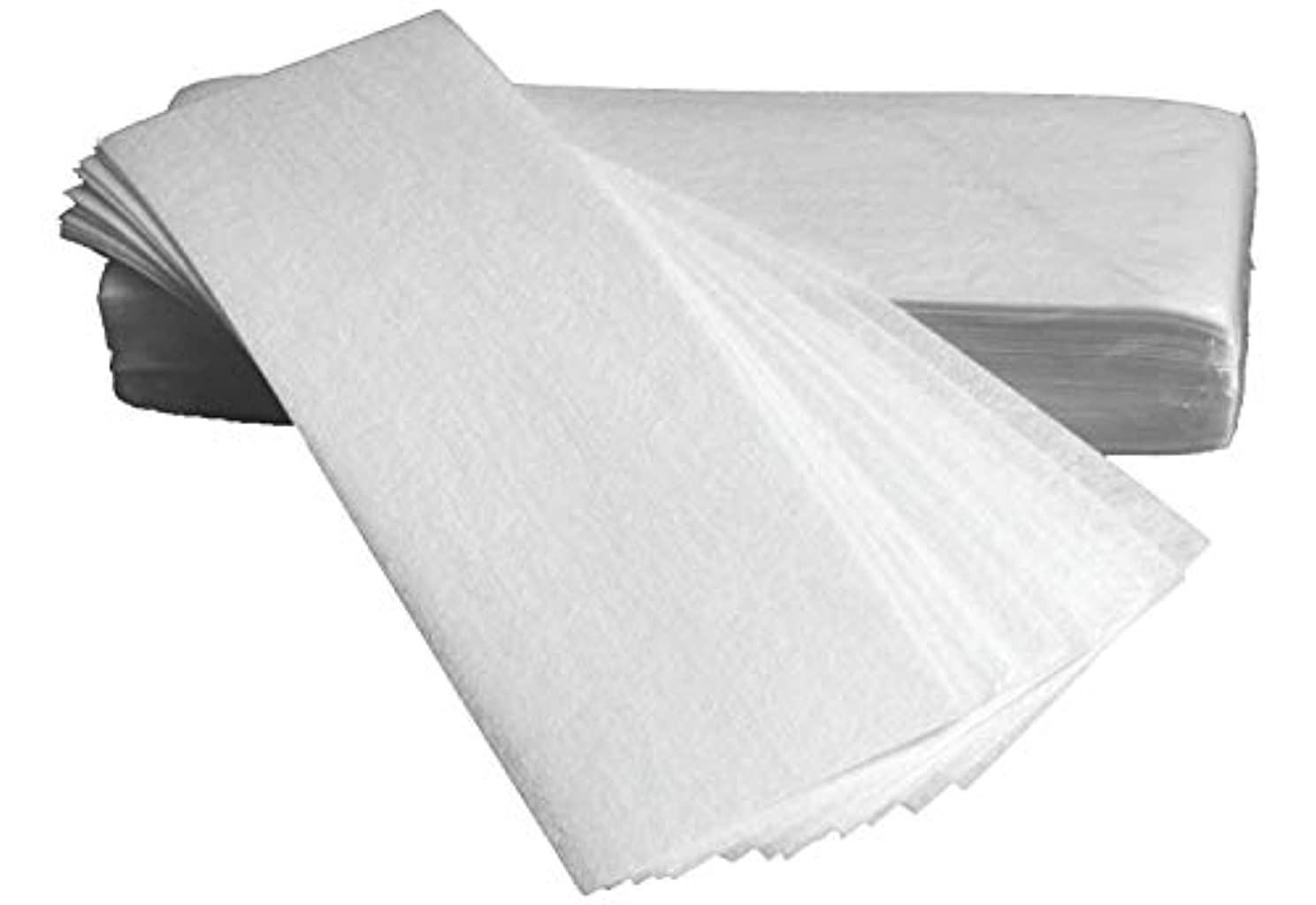 縫うレンダリング帰る1st market 100個の白い除去不織布ボディ布毛はワックスペーパーロールを削除します脱毛脱毛器ワックスストリップペーパーロールは便利で実用的です