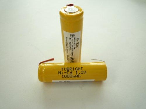 ニカド電池 単3形 タブ 1.2V 1000mAh .0 YUBRIGHT BK-1AA1000NC