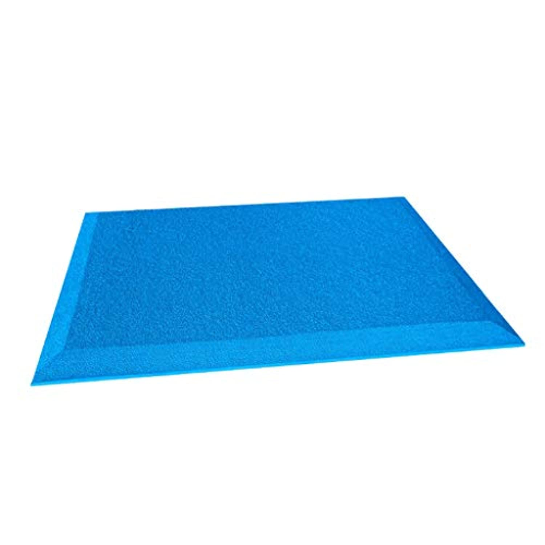 Perfeclan 足ふきマット フットマッサージマット 両面滑り止め 弾力性 ストレス解消 約60x45cm 全4色 - ブルー