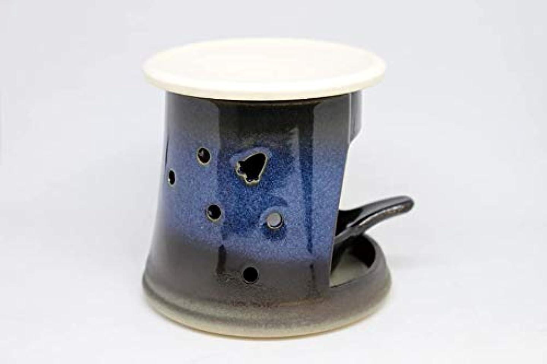 タイヤ帽子切り刻む宇宙の茶香炉【常滑焼】 (白色(上皿のみ))