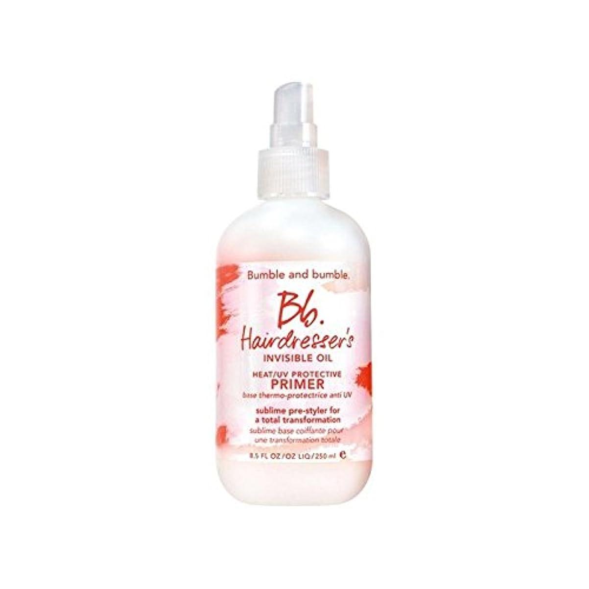 試みる発掘おかしいBumble & Bumble Hairdressers Invisible Oil Heat/Uv Protective Primer (250ml) - 美容見えないオイル熱/ 保護プライマー(250ミリリットル)...