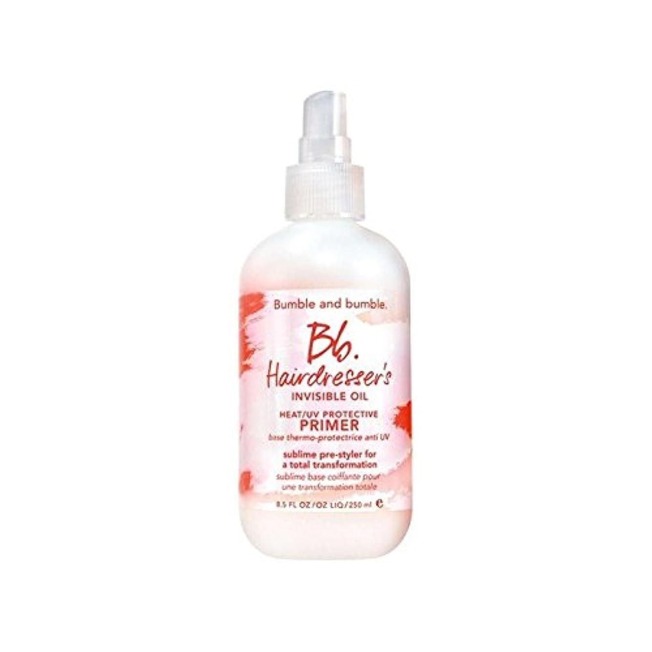 分岐するホスト対応するBumble & Bumble Hairdressers Invisible Oil Heat/Uv Protective Primer (250ml) - 美容見えないオイル熱/ 保護プライマー(250ミリリットル)...