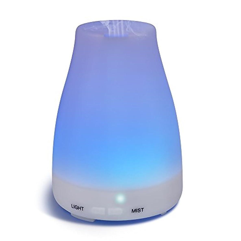摂氏度ピジン著作権HOMREE 100mL加湿器アロマセラピー エッセンシャル 油 ディフューザー、7 カラフル LED ライト、調節可能な ミスト モード そして オート シャット- オフ