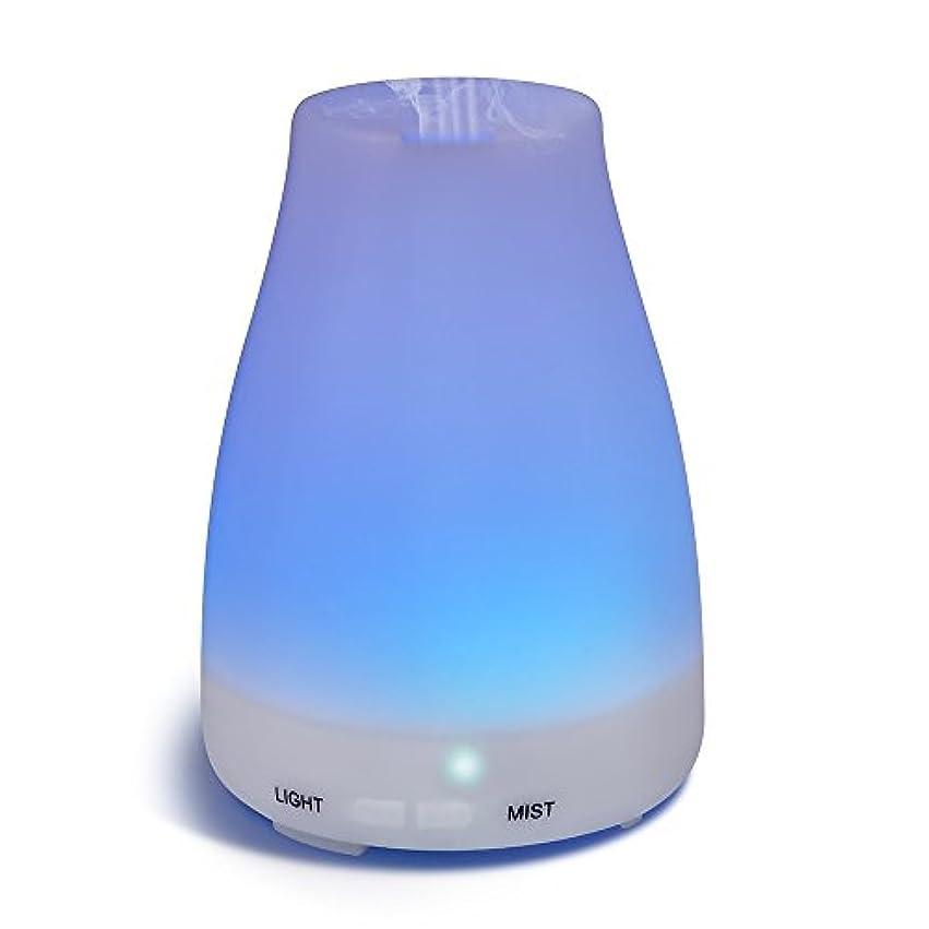 音楽構成員宿るHOMREE 100mL加湿器アロマセラピー エッセンシャル 油 ディフューザー、7 カラフル LED ライト、調節可能な ミスト モード そして オート シャット- オフ