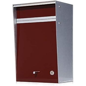 郵便ポスト デザイナーズ A4サイズ対応 (幅26x奥行18x高40cm) [Wall mounted-ウォールマウンテッド-] [MoMA認定品/壁掛け/鍵付き] 全8色 【Box Design 正規品】 ブラウン