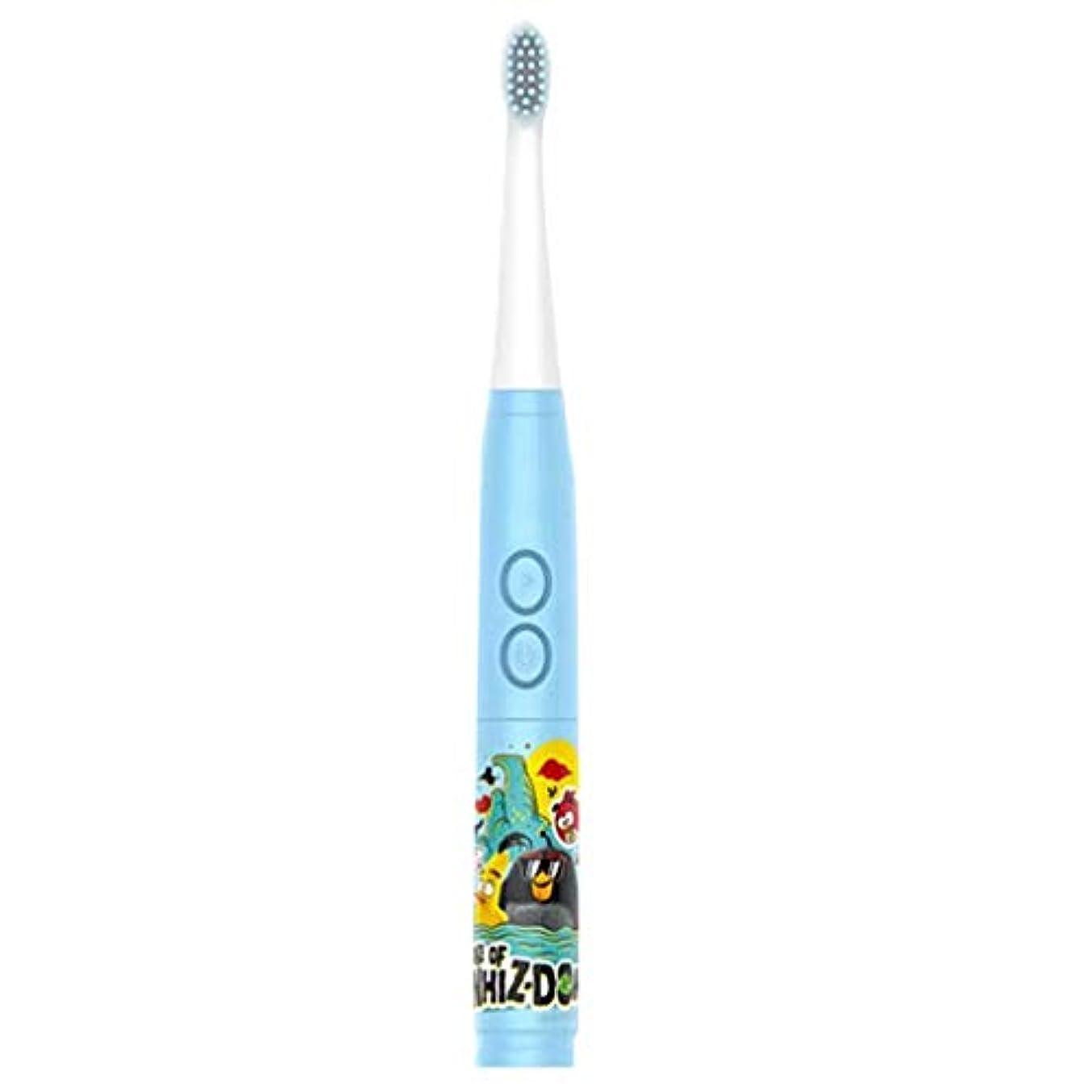 怖がらせるとげのある病んでいるシンプルな子供の音楽電動歯ブラシ男の子と女の子の自動歯ブラシ3-6-12歳の柔らかい髪の赤ちゃんの歯ブラシの家 (色 : A)