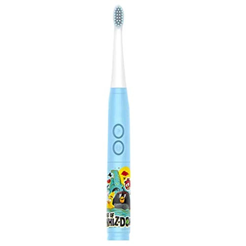 シンプルな子供の音楽電動歯ブラシ男の子と女の子の自動歯ブラシ3-6-12歳の柔らかい髪の赤ちゃんの歯ブラシの家 (色 : A)