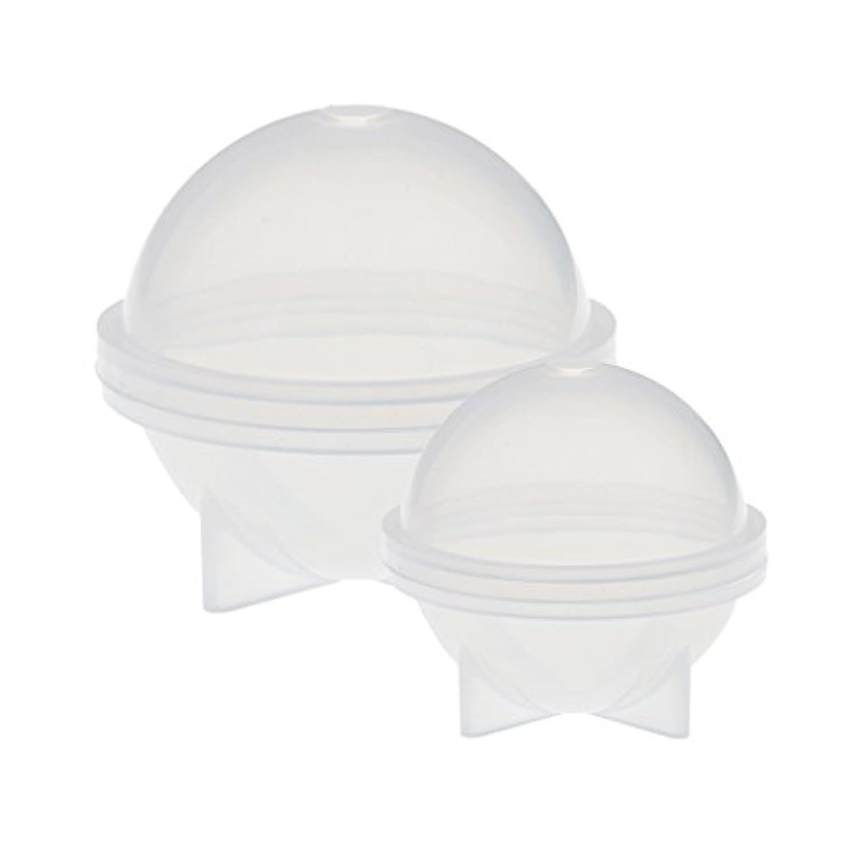 Prettyia 樹脂鋳造 球形 シリコーン金型 ビーズ キラキラ 乾燥した花 工芸品装飾 手作り DIY 高品質 40mm &60mm 2個セット