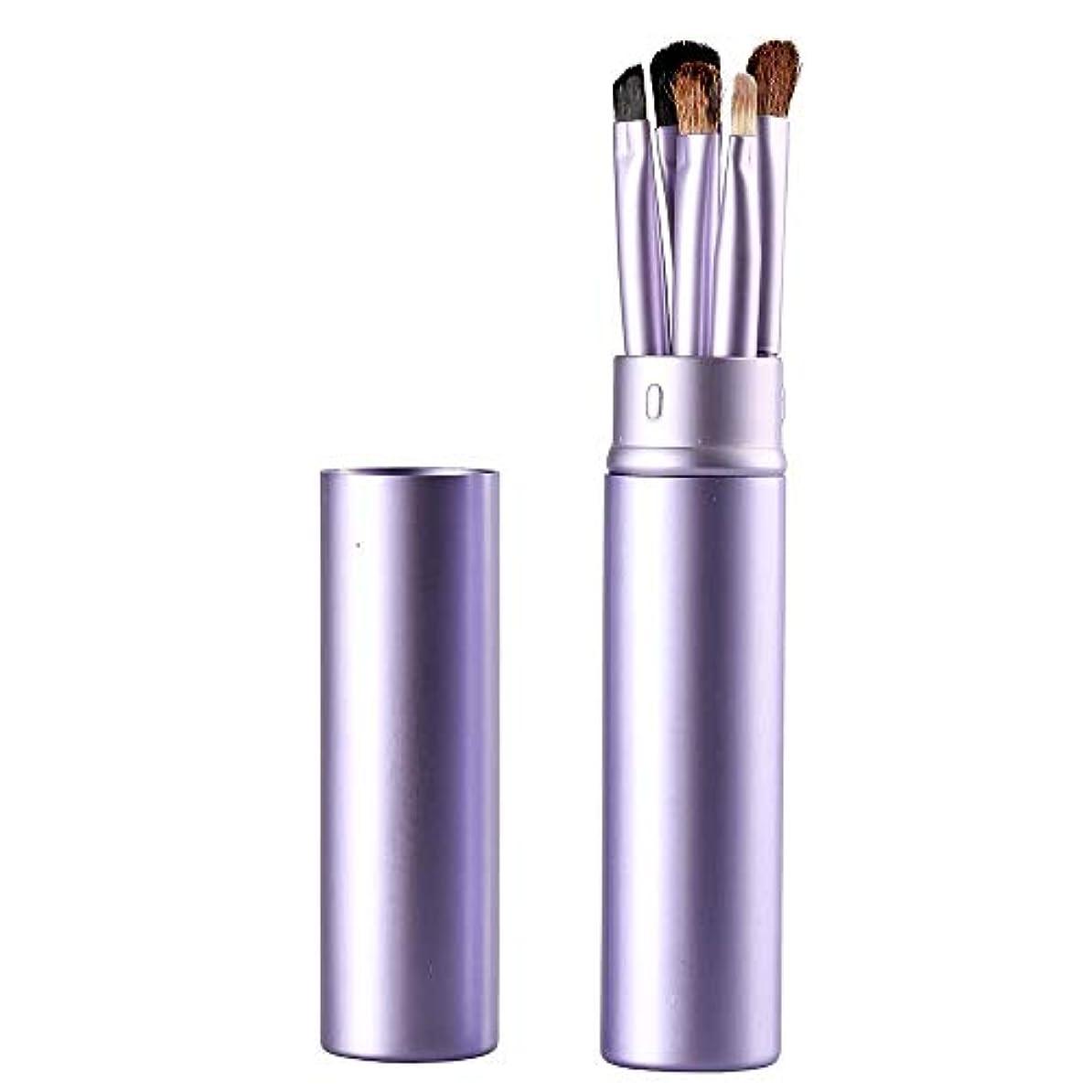 しかしながらコストパイプMakeup brushes 紫色、アイメイクブラシセットブラシ5アイブラシメイクペン美容メイクツールで化粧チューブ保護 suits (Color : Purple)