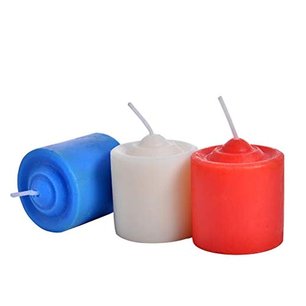 フリルブルにはまってBESTOYARD 低温ローソク 低温キャンドル SM専用 大人 カップル 恋人 3ピース(赤いホワイトブルー)