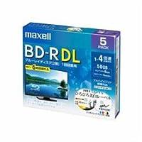 【まとめ 5セット】 maxell BRV50WPE5S 録画用BD-R ひろびろ美白レーベルディスク 1-4倍 50GB 5枚 うす型5mmケース