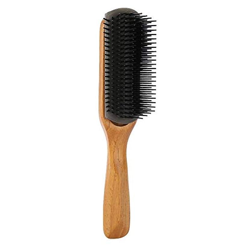 彼女のデマンドエレクトロニック男性オイルヘッドコーム、マッサージ9行コムズヘアブラシ理髪スタイリングツール(ブラック)