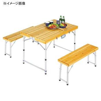 キャプテンスタッグ シダー 杉製ベンチインテーブルセット