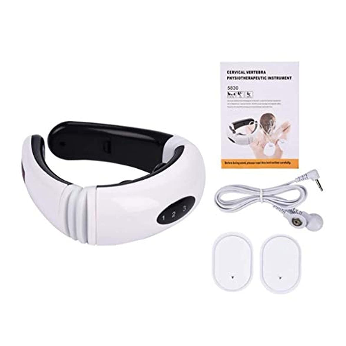 アリ労働降臨電動ネックマッサージャー、頸椎マッサージ器具、調整可能な感電パルス頸部理学療法、多機能ネックマッサージャー、痛みを緩和するマッサージャー