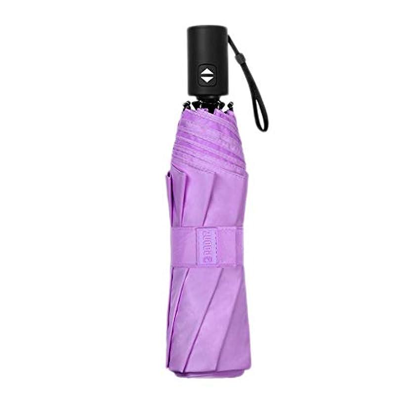 クック処分した分析傘大型自動折り畳み傘 (色 : Purple)