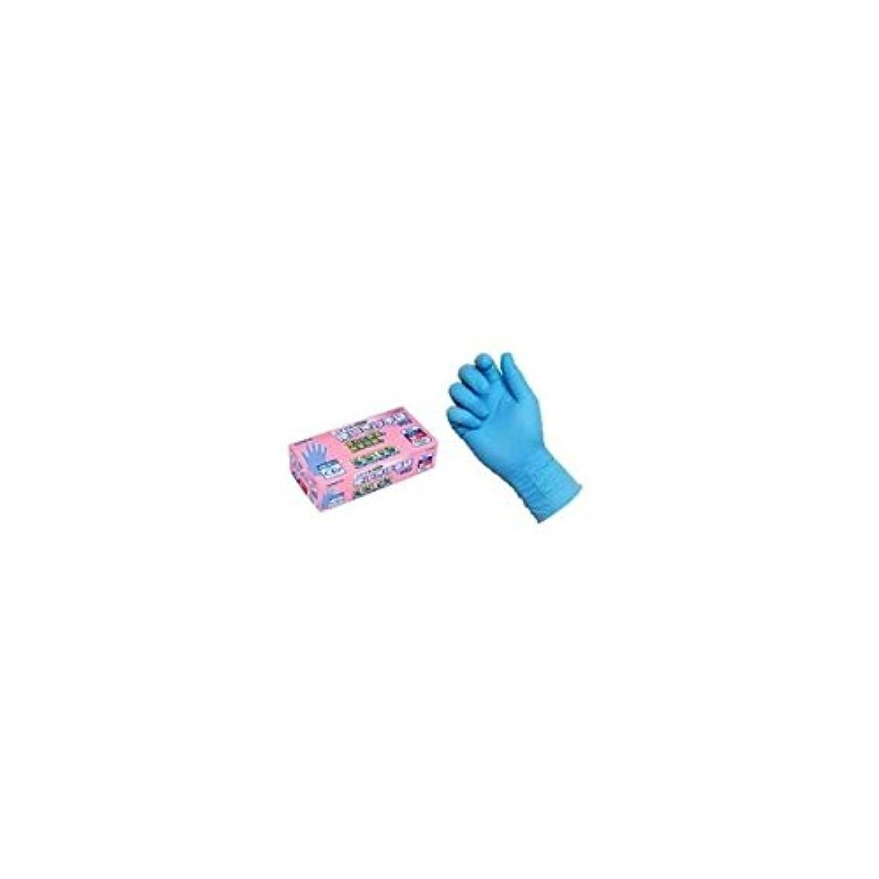まさに不健全どれニトリル使いきり手袋 PF NO.992 M ブルー エステー 【商品CD】ST4779